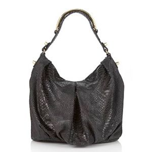 CC Skye Python Leather Turner Hobo Bag